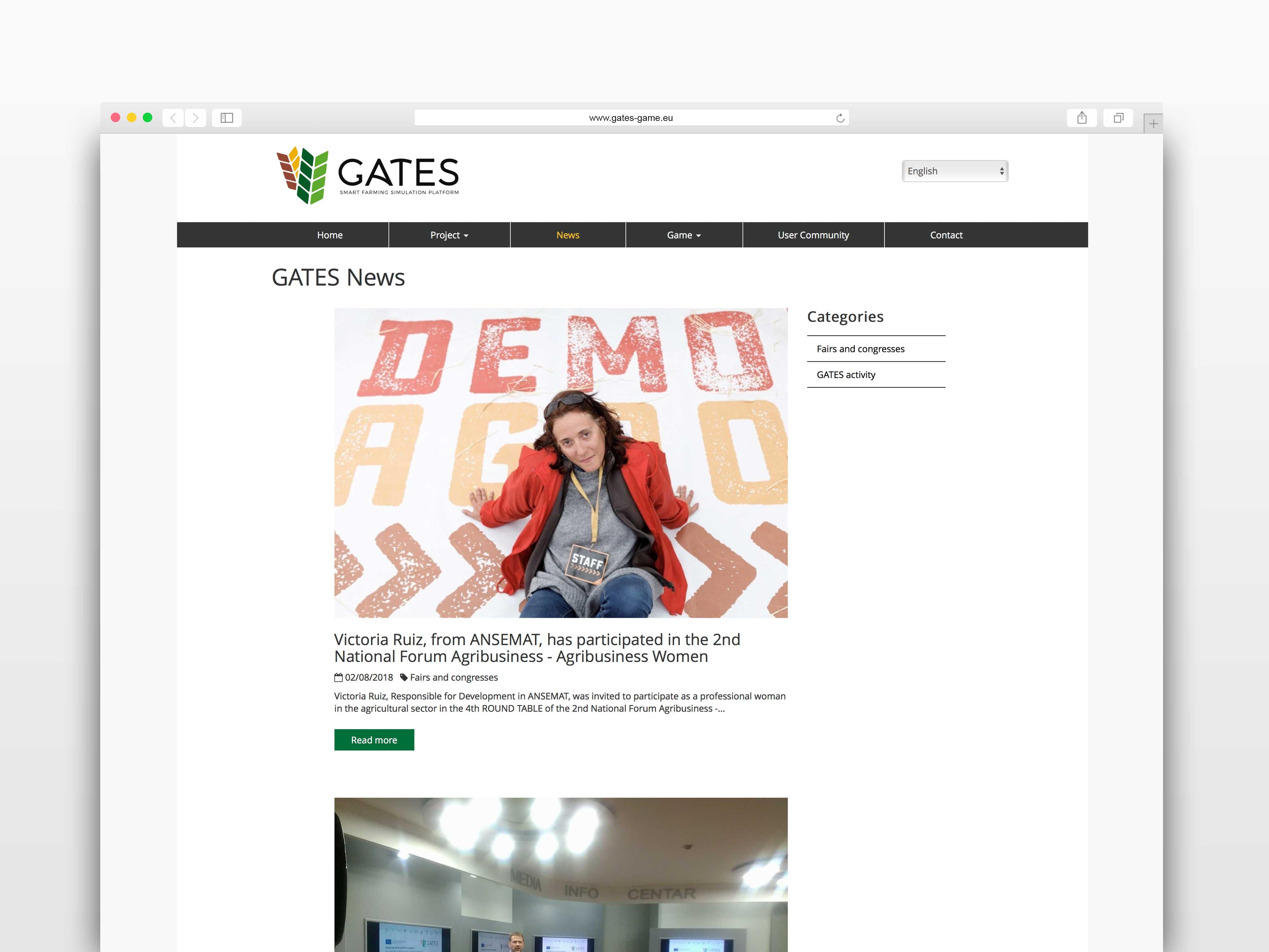 Gates diseño página blog TANTATIC