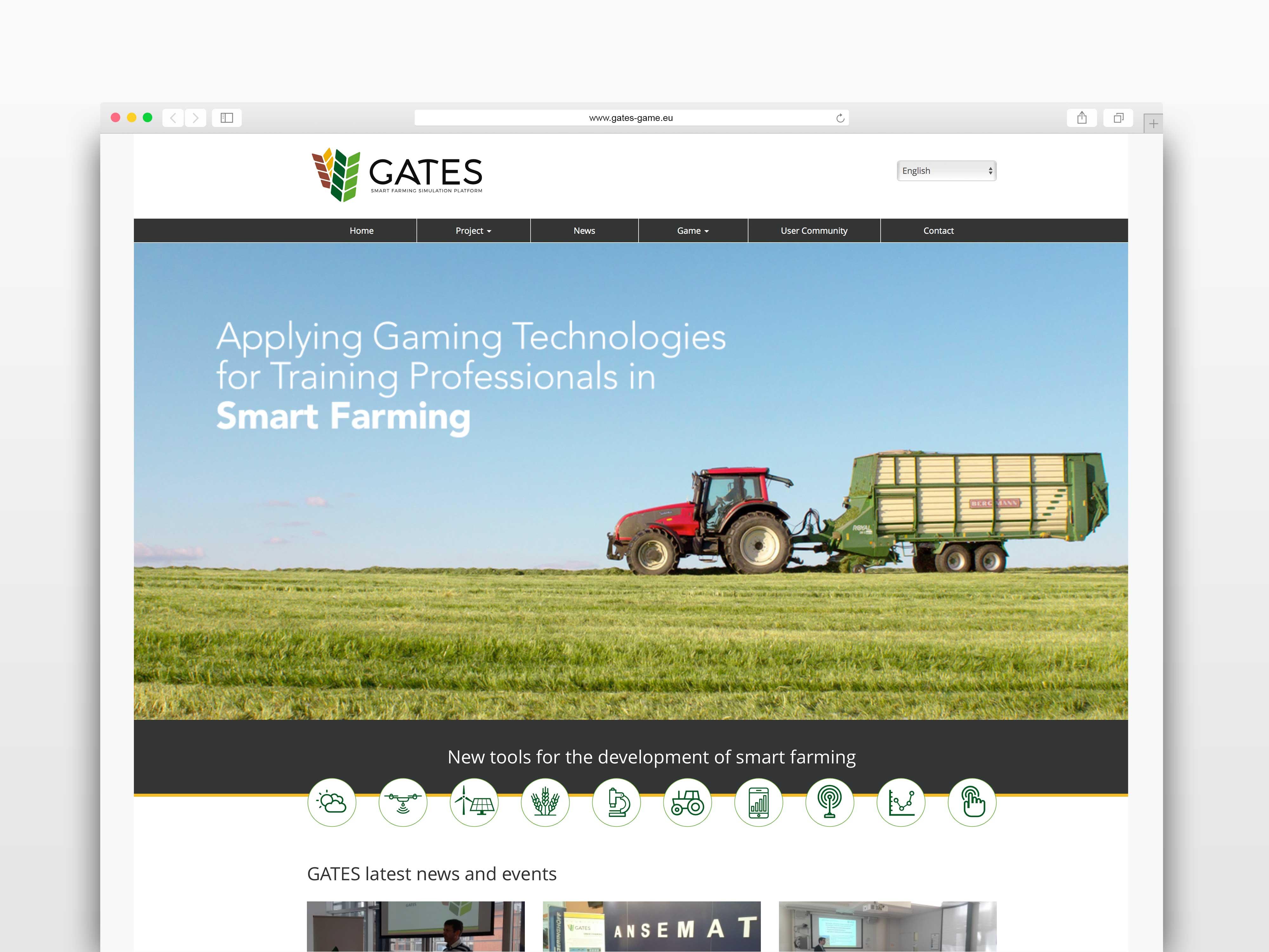 Gates diseño página de inicio TANTATIC
