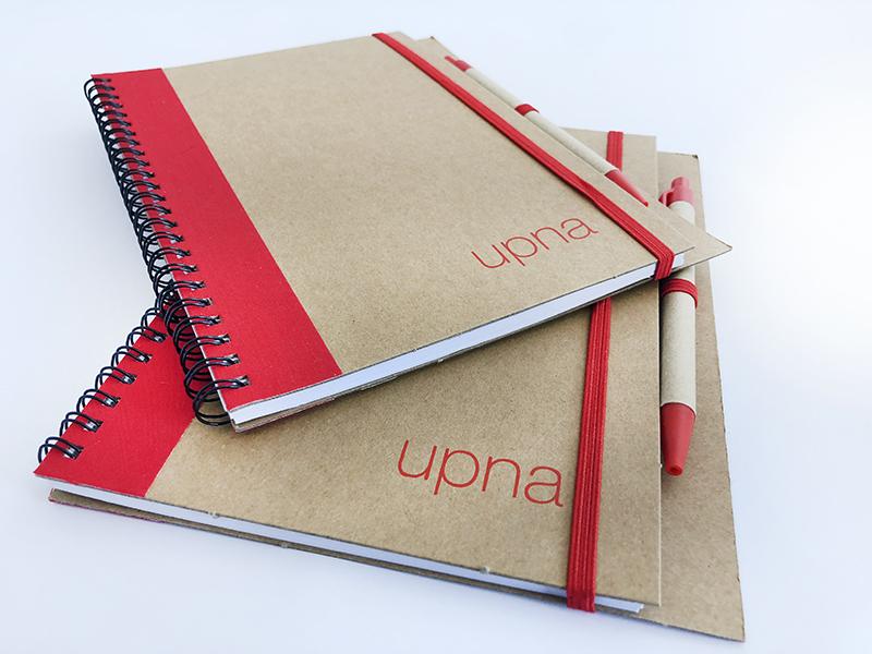 UPNA productos merchandising · libreta